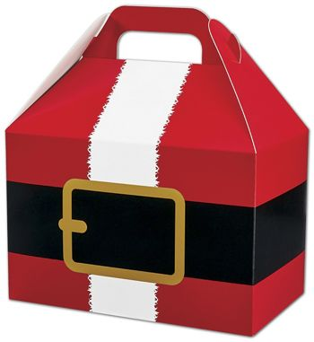Santa's Belt Gable Boxes, 8 1/2 x 5 x 5 1/2