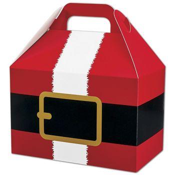 Santa's Belt Gable Boxes, 8 1/2 x 5 x 5 1/2
