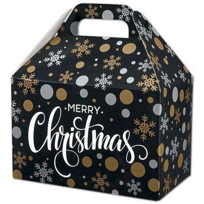 "Christmas Elegance Gable Boxes, 8 1/2 x 5 x 5 1/2"""