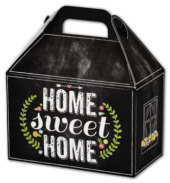 Chalkboard Home Gable Boxes, 8 1/2 x 5 x 5 1/2