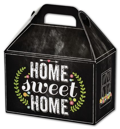 Chalkboard Home Gable Boxes, 8 1/2 x 5 x 5 1/2""