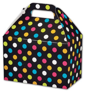 Dazzling Dots Gable Boxes, 8 1/2 x 5 x 5 1/2
