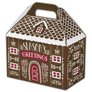 Gingerbread House Gable Boxes, 8 1/2 x 5 x 5 1/2