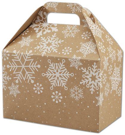 """Kraft Snowflakes Gable Boxes, 8 1/2 x 5 x 5 1/2"""""""