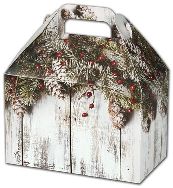 Rustic Gable Boxes, 8 1/2 x 5 x 5 1/2
