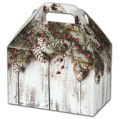 """Rustic Gable Boxes, 8 1/2 x 5 x 5 1/2"""""""