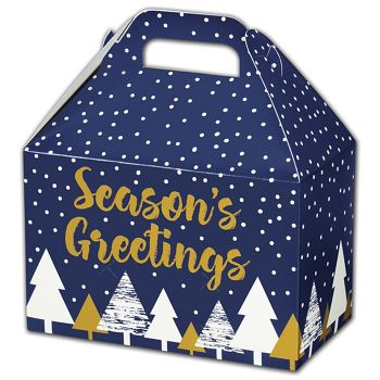 Season's Greetings Gable Boxes, 8 1/2 x 5 x 5 1/2