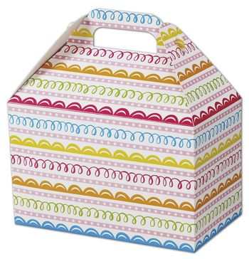 Sweet Swirls Gable Boxes, 8 1/2 x 5 x 5 1/2