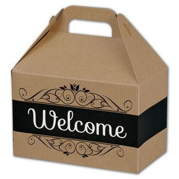 Welcome Gable Boxes, 8 1/2 x 5 x 5 1/2