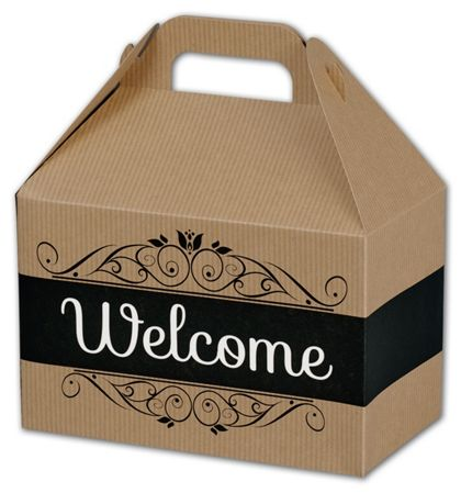 """Welcome Gable Boxes, 8 1/2 x 5 x 5 1/2"""""""