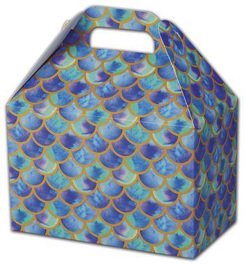 Watercolor Mermaid Gable Boxes, 8 1/2 x 5 x 5 1/2