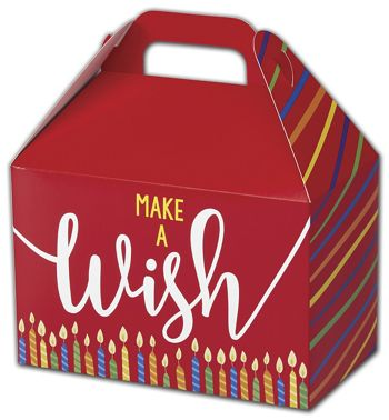 Make a Wish Candles Gable Boxes, 8 1/2 x 5 x 5 1/2