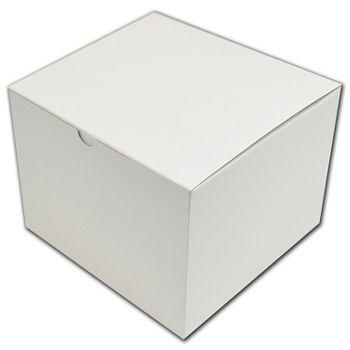 """White One-Piece Gift Boxes, 8 x 8 x 6"""""""