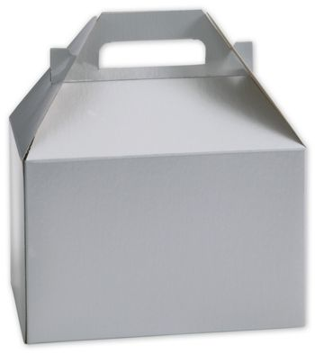 Silver Gable Boxes, 8 x 4 7/8 x 5 1/4
