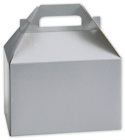 Silver Gable Boxes, 8 x 4 7/8 x 5 1/4""
