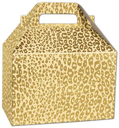 "Golden Cheetah Gable Boxes, 8 x 4 7/8 x 5 1/4"""