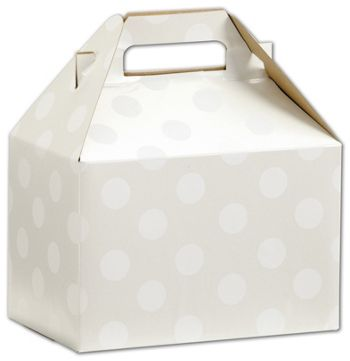 Polka Dot Pearl Gable Boxes, 8 x 4 7/8 x 5 1/4