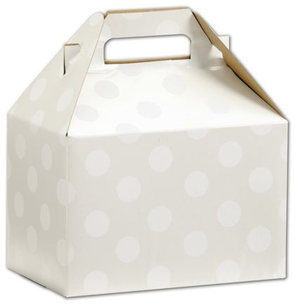 Polka Dot Pearl Gable Boxes, 8 x 4 7/8 x 5 1/4""