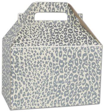 Silver Cheetah Gable Boxes, 8 x 4 7/8 x 5 1/4
