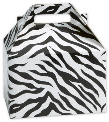 Zebra Gable Boxes, 8 x 4 7/8 x 5 1/4