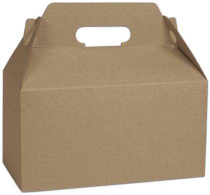 "Kraft Varnish Striped Gable Boxes, 9 1/2 x 5 x 5"""