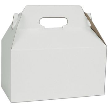 White Gable Boxes, 9 1/2 x 5 x 5