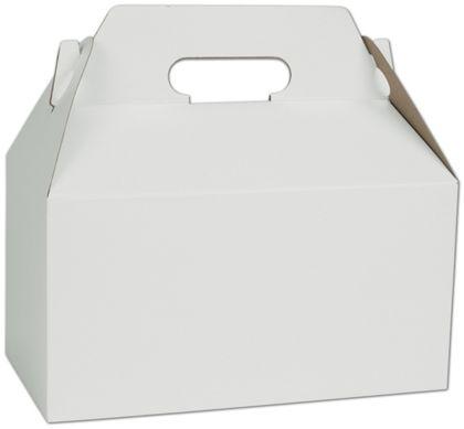 """White Gable Boxes, 9 1/2 x 5 x 5"""""""