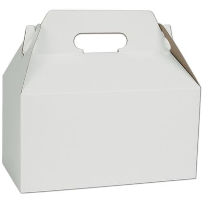 White Gable Boxes, 9 1/2 x 5 x 5""