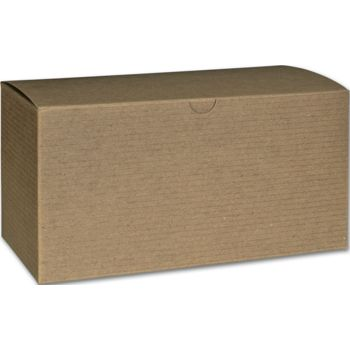 Kraft One-Piece Gift Boxes, 9 x 4 1/2 x 4 1/2