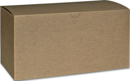Kraft One-Piece Gift Boxes, 9 x 4 1/2 x 4 1/2""