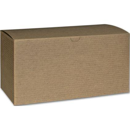 "Kraft One-Piece Gift Boxes, 9 x 4 1/2 x 4 1/2"""