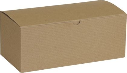Kraft One-Piece Gift Boxes, 10 x 5 x 4""