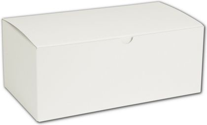 White One-Piece Gift Boxes, 10 x 5 x 4""