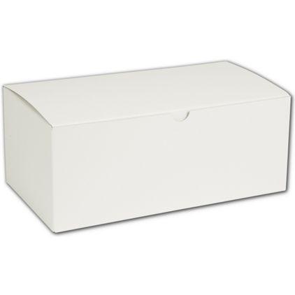 """White One-Piece Gift Boxes, 10 x 5 x 4"""""""
