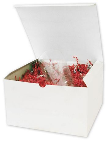 White One-Piece Gift Boxes, 10 x 10 x 6