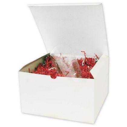 """White One-Piece Gift Boxes, 10 x 10 x 6"""""""