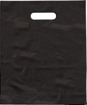 Black Low Density Patch Handle Bags, 9 x 12