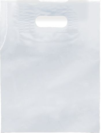 Clear Low Density Patch Handle Bags, 9 x 12