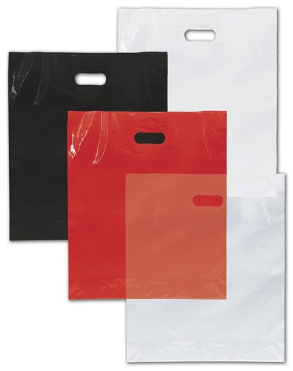 Low Density Patch Handle Bags, Custom Printed 1 Color