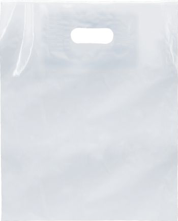 Clear Low Density Patch Handle Bags, 12 x 15