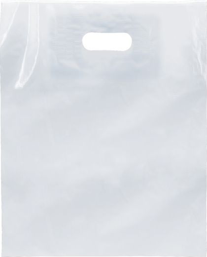 """Clear Low Density Patch Handle Bags, 12 x 15"""""""