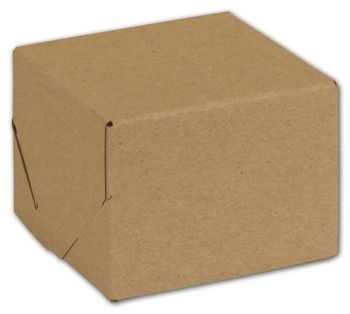 Natural Kraft Two-Piece Expandable Boxes, 4 x 4 x 3