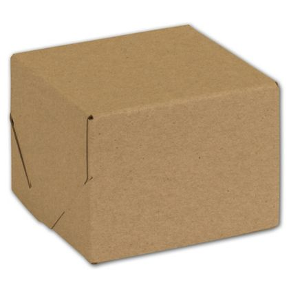 Natural Kraft Two-Piece Expandable Boxes, 4 x 4 x 3""