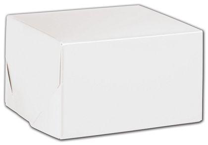 """White Two-Piece Gift Boxes, 5 x 5 x 3"""""""