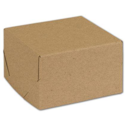"Natural Kraft Two-Piece Expandable Boxes, 5 x 5 x 3"""