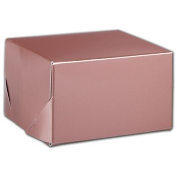 Rose Gold Tinted Boxes, 5 x 5 x 3""