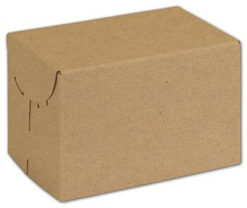 Natural Kraft Two-Piece Expandable Boxes, 6 x 4 x 4