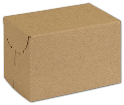 Natural Kraft Two-Piece Expandable Boxes, 6 x 4 x 4""