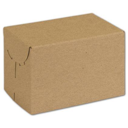 "Natural Kraft Two-Piece Expandable Boxes, 6 x 4 x 4"""