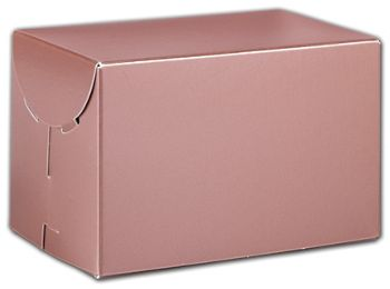 Rose Gold Tinted Boxes, 6 x 4 x 4